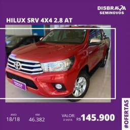 TOYOTA HILUX 2.8 SRV 4X4 CD 16V DIESEL 4P AUTOMÁTICO - 2018