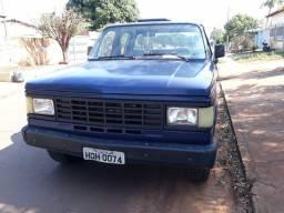 D20 custon diesel 1988/1988, azul, cabine dupla direção hidraulica