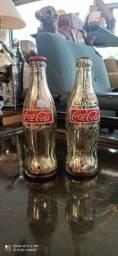 Garrafas Coca Cola Antiga Prateadas