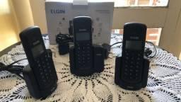 Telefone sem fio Elgin com 2 ramais
