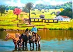 Pintura a óleo Ricardo Morais