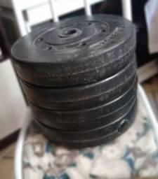 Anilhas de 4,5kg, 6,8kg R$ 9,00 o kg