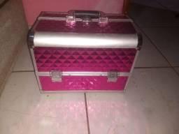 Vendo maleta de maquiagem rosa