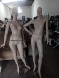 Manequins feminino fibra c/ base. $ 140,00 Cd