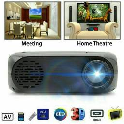 Promoção Mini Projetor de Cinema com LED /Multimídia 1080P / AV / USB / HDMI /Portátil