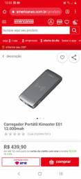 Carregador KIMASTER 12000 mah 3.7V