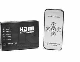 Hub Switch Hdmi 5 Portas x 12x R$ 7,49 x Entrega Grátis x Garantia 3 m