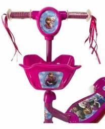 Patinete Infantil 3 Rodas com Cesta Rosa com Luzes e Som<br>