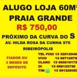 Título do anúncio: Alugo Loja 50 m², na Praia Grande, Curva do S - Ribeirópolis