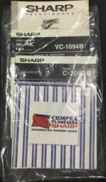 Título do anúncio: Manual Antigo TV e Videocassete Sharp: VC-1094B, C-2092B e C2999G