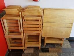 Jogo de mesa madeira