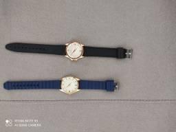 Relógios femininos novos com pulseira de borracha