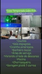 Título do anúncio: Casa Temporada Cabo Frio c/ Piscina