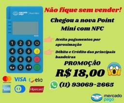 Título do anúncio: Maquininha de cartão Point Mini com NFC (aceita aproximação) do Mercado Pago
