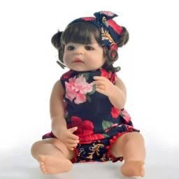 Boneca Bebê Reborn 100% silicone
