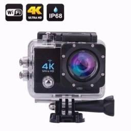 Promoção Câmera 4K sports com controle, wi-fi