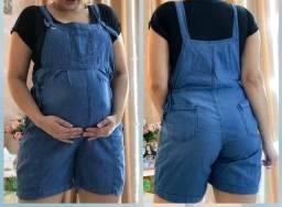 Título do anúncio: Jardineira jeans para gestante