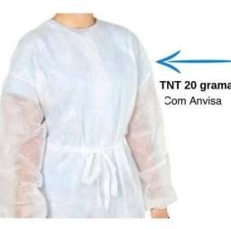 Avental manga longa descartável TNT 10unidades