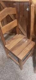 Jogo de mesa madeira maciça