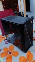 Gabinete Gamer Aerocool Mini Cylon Mini Tower, RGB, com FAN, Lateral em Acrílico