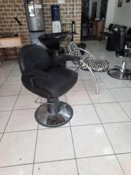 Título do anúncio: Cadeira de barbeiro, cabeleleiro e lavatório