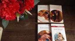 Livros de romance contemporâneos.