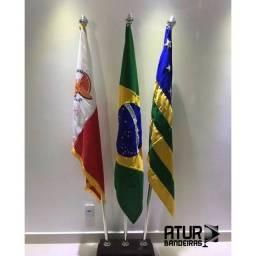 Bandeira do Brasil, Municipal e Estadual   Bandeira Personalizada
