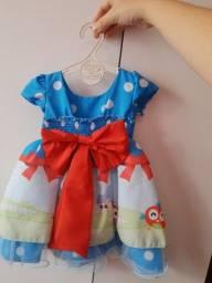 Vestido galinha pintadinha tamanho M bebê
