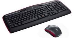 Teclado+Mouse MK330 Logitech Sem Fio Wireless PC Not USB Unifiyng