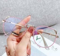 Óculos Feminino Armação Gatinho para Grau Estilo Juliette para descanso e leitura