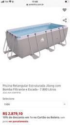 Oportunidade piscina estrutura 7800 litros na caixa zero