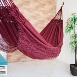 Rede De Dormir Descanso Jeans Mesclado Life Varias Cores Com Franja