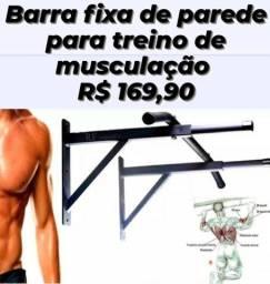 Barra Fixa Parede R$ 169,90, treino, abdominal, musculação, academia