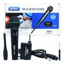 Título do anúncio: Microfone Profissional Sem Fio Knup Hi-Fi