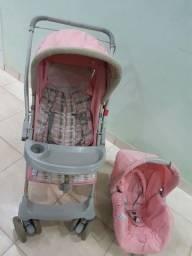 Vendo carrinho com bebê conforto galserano