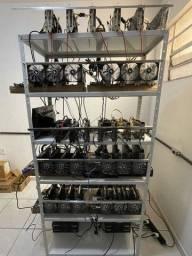 Título do anúncio: Rig Mineração Completa RX 570 4gb SÓ USAR!