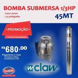 Bomba d´agua submersa de (2,5) polegadas, 1/3 HP ? Entrega Grátis