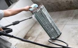 Instalação de ar, limpeza e manutenção