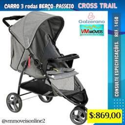 Carrinho de Bebê Galzerano 3 rodas Entrega em Aparecida de Goiânia e Goiânia Quadro hsh