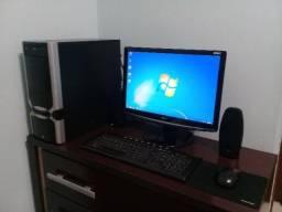 Computador Completo, Cpu, Monitor, Teclado, Mouse, Som e Headset