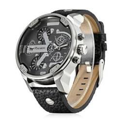 Relógio Cagarny Quartz Pulseira Couro Sintético - Esporte Fino - Aceito de Crédito e Débit