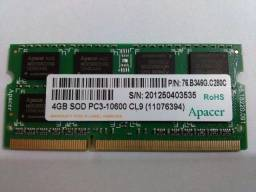 Memoria ram 4gb ddr3 para notebook