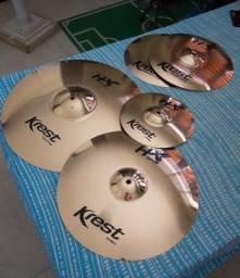 Kit de pratos Krest HX Series - Completo