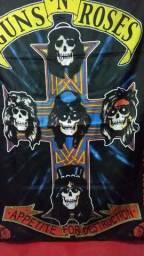 Bandeira Guns N' Roses Appetite For Destruction Hard Rock Heavy Metal Rock