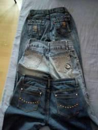 Jeans 3 calças tamanhos 36 38 40 todas por R$15
