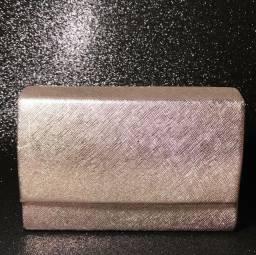 Bolsa Metalizada e Texturizada Champagne