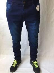 Calça Jogger e calça jeans masculina com elastano