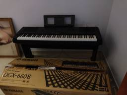 Piano Digital Dgx-660b Preto Yamaha<br><br>