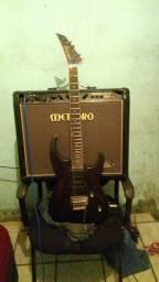 Vendo guitarra mais caixa meteoro nitros 210gs 100 watts
