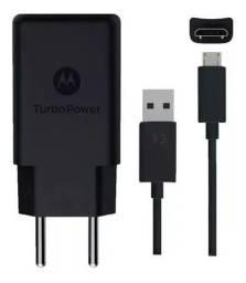 Carregador Turbo Power Motorola Moto G3 G4 G5 G6 Play V8